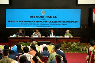 Diskusi Panel Pengelolaan Keuangan Negara Untuk Kesejahteraan Rakyat Bpk Perwakilan Provinsi Kalimantan Barat
